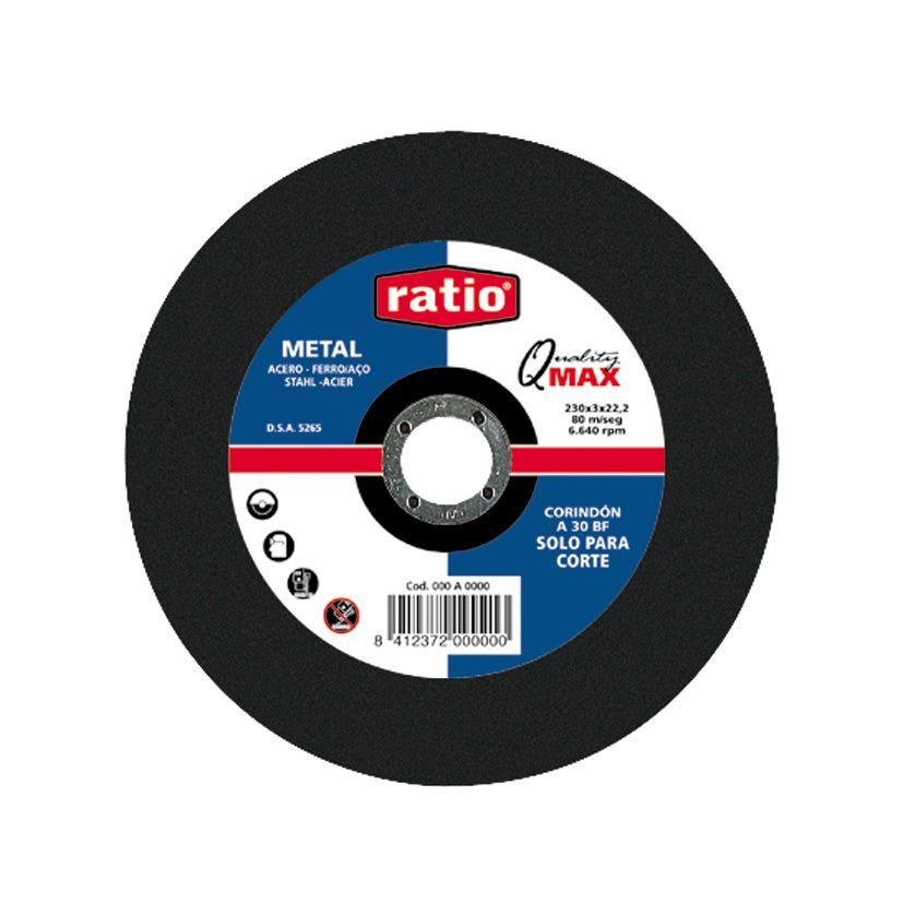 DISCO CORTE METAL 115X2.5X22 RATIO